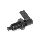 Cam action indexing plungers with 180° limit stop, with locking function GN 721.1