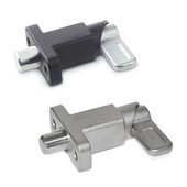 Spring latches with flange for surface mounting GN 722.2
