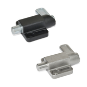 Spring latches with flange for surface mounting GN 722.3