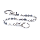 Stainless Steel-Ball chains with two key rings GN 111.5